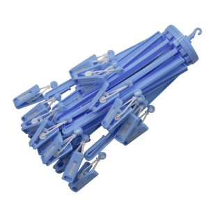 24 Clips Umbrella Hanger - Blue