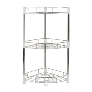 3-Layer Stainless Steel Knock Down Corner Shelf
