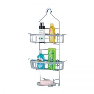 3-layer Shower Caddy In White Powder Coat