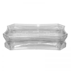 Acrylic Soap Dish(White Transparent)