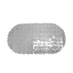 Pebble Oval Bath Mat 69x36cm (White)