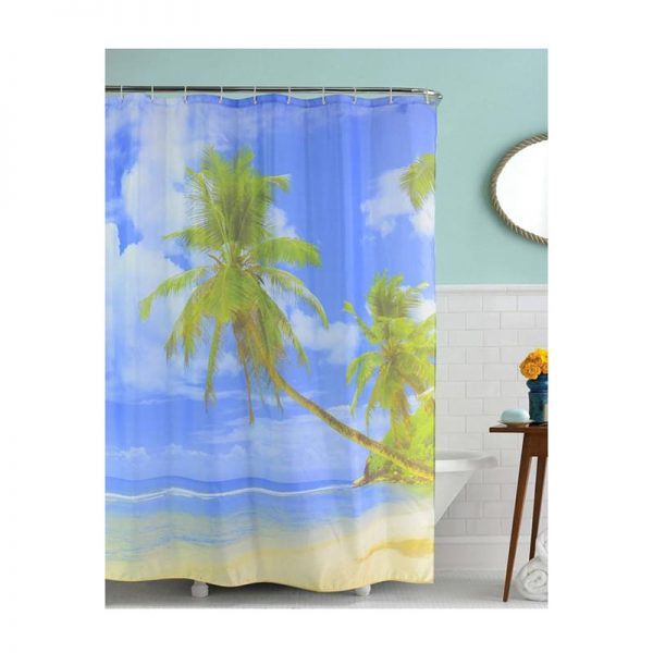 Polyester Shower Curtain Beach