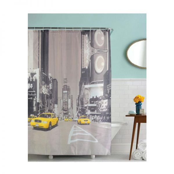 Polyester Shower Curtain City