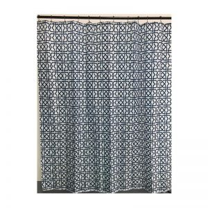 Polyester Shower Curtain Dark Square