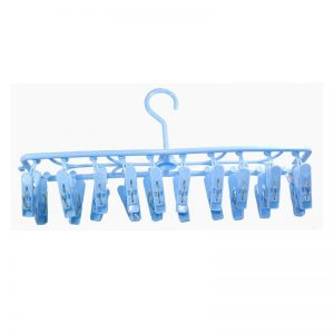 Rectangular Hanger W/ 20 Clips - Blue