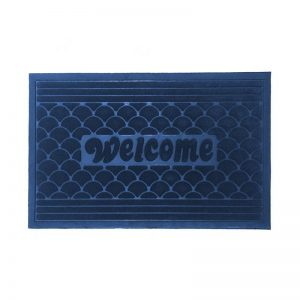 Scallop Doormat - Blue
