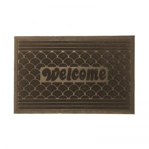 Scallop Doormat - Brown