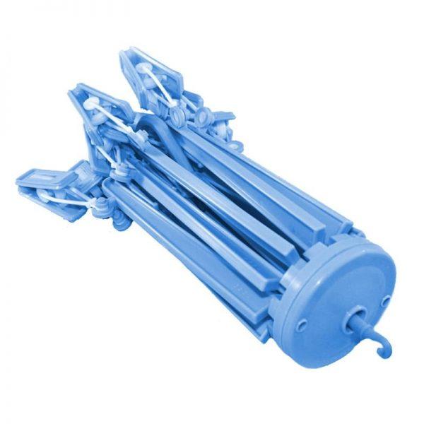 Umbrella Hanger with 12 Clips - Blue