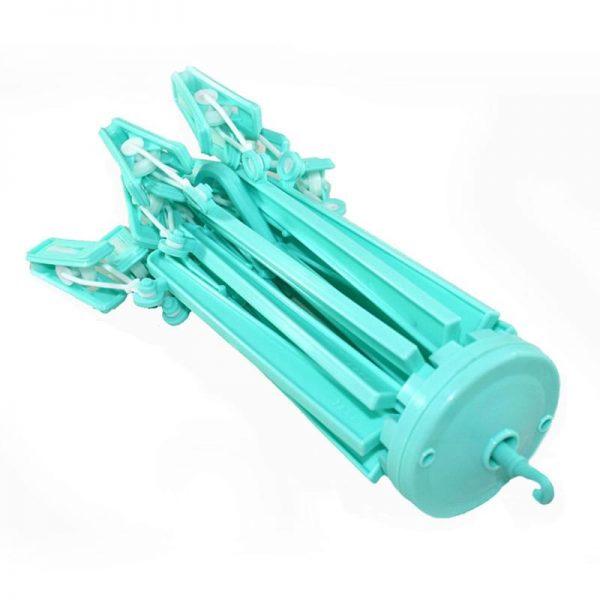 Umbrella Hanger with 12 Clips - Green