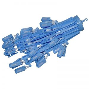 Umbrella Hanger with 36 Clips - Blue