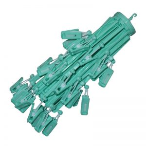Umbrella Hanger with 36 Clips - Green
