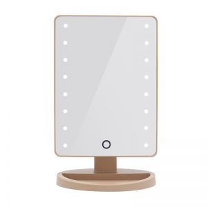 Vanity Mirror with Touch Screen Led Light - Gold