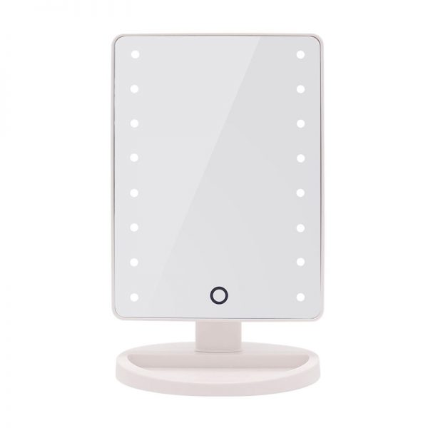 Vanity Mirror with Touch Screen Led Light - White