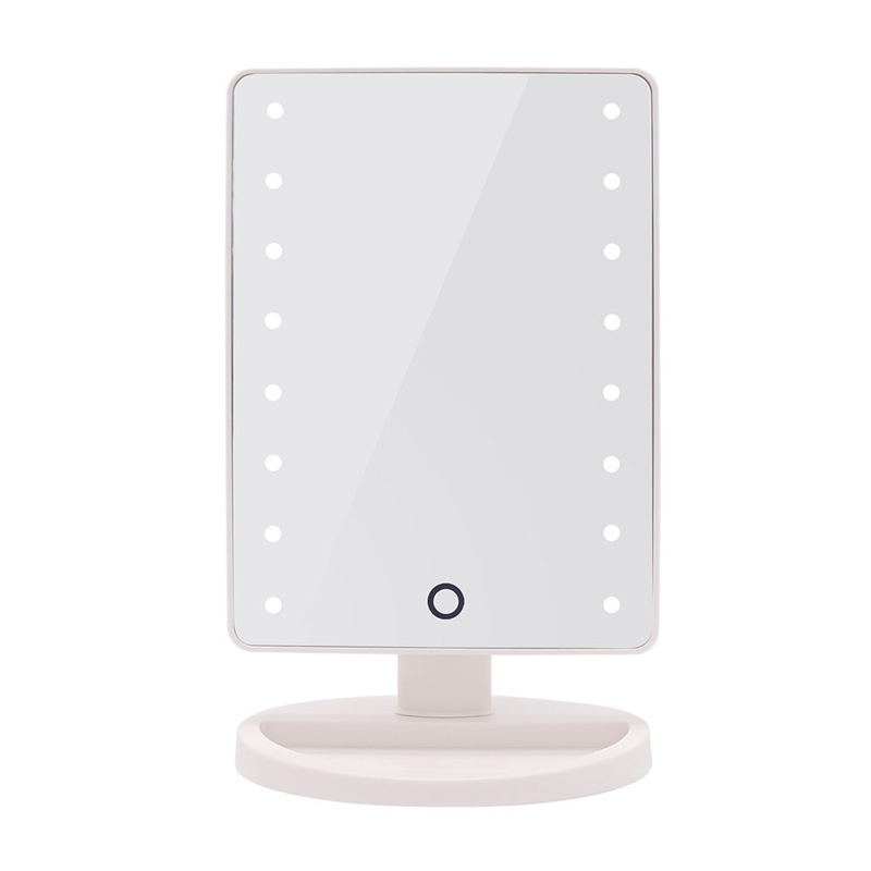Vanity Mirror With Touch Screen Led Light White Cascade