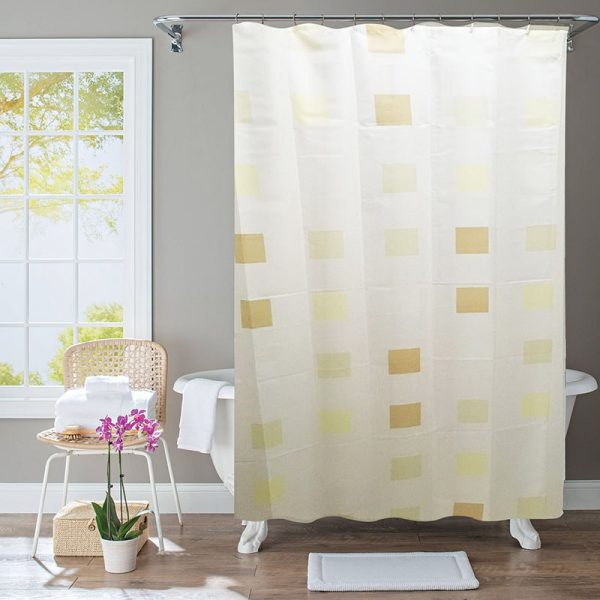 Polyester Shower Curtain Beige Square