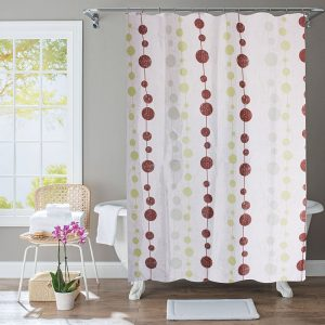 Polyester Shower Curtain Bubbles