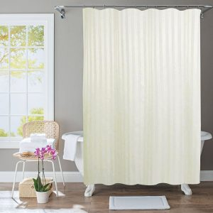 Polyester Shower Curtain Stripe Beige