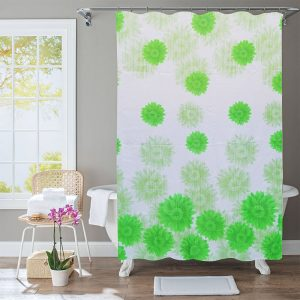 Polyester Shower Curtain Flowers
