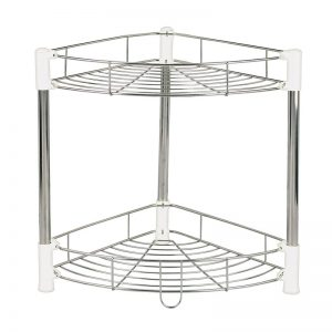 2-Layer Stainless Steel Knock Down Corner Shelf