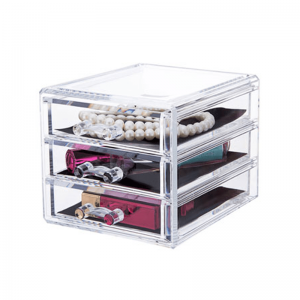 3 Layer Drawer Cosmetic Organizer