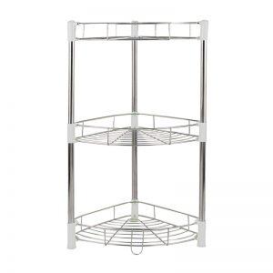 3-Layer Stainless Steel Knock Down Corner Shelf