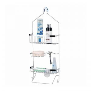 3-layer Shower Caddy With White Powder Coat