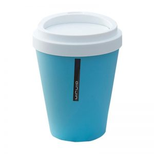 Coffee Cup Dustbin Small-blue