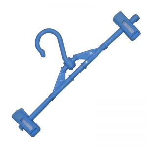 Hanger with 2 Clips - Blue