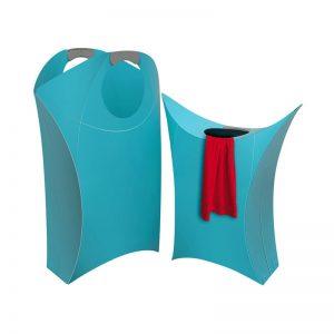 Origami Laundry Hamper Blue