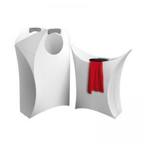 Origami Laundry Hamper White