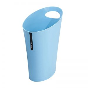 Oval Bin with Handle Blue