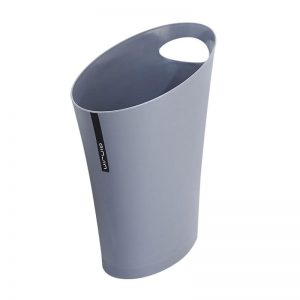 Oval Bin wtih Handle-Gray