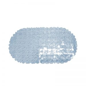Pebble Oval Bath Mat 69x36cm (Blue)
