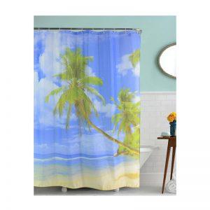 Polyester Shower Curtain Beach