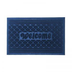 Scallop Doormat - Blue