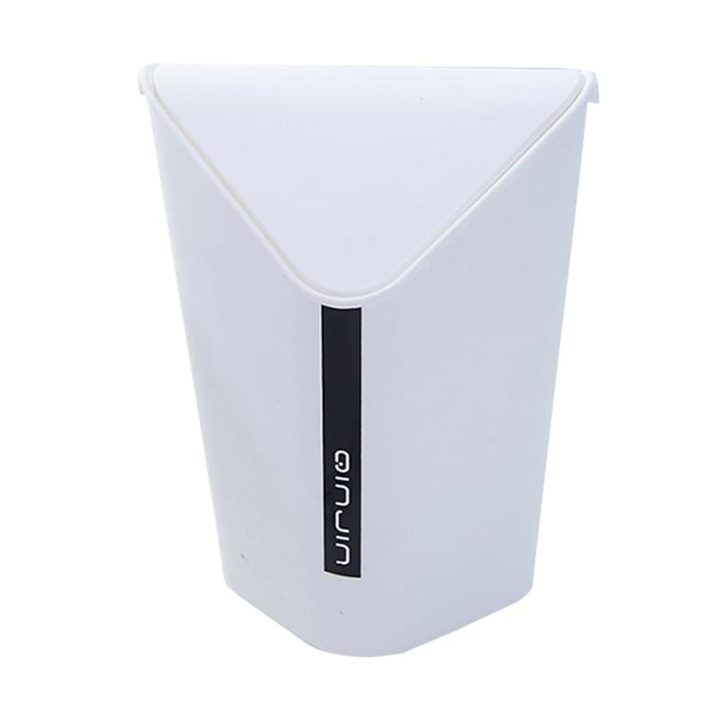 Triangle Bin With Swing Lid Small White Cascade