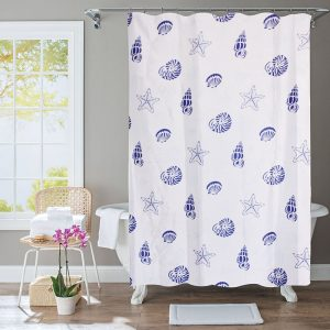 Polyester Shower Curtain Starfish