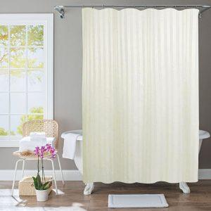 Polyester Shower Curtain Stripe Beige