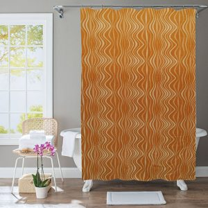 Polyester Shower Curtain Waves